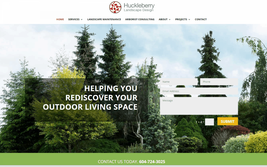 Website Redesign for A Landscaping Company